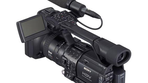 Трета професионална видеокамера Sony HVR-Z1.