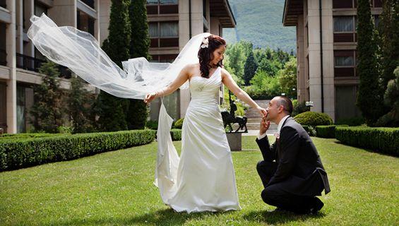 Заснемане на сватба - късметът се усмихна на Борислава и Ванко.